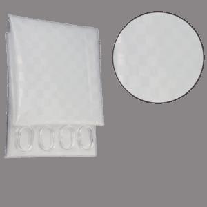 Κουρτίνα μπάνιου διαφανής (180x180cm)