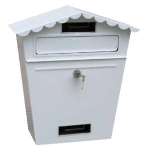 Γραμματοκιβωτιο Μεταλλικο 65-320 Λευκο - Μαυρο - Πρασινο Housebird 65-320