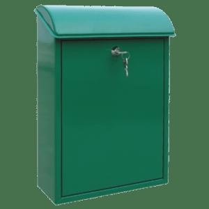 Γραμματοκιβωτιο Μεταλλικο TX-0070 Λευκο - Μαυρο - Πρασινο Housebird 65-TX0070
