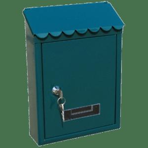 Γραμματοκιβωτιο Μεταλλικο TX-0080 Λευκο - Μαυρο - Πρασινο Housebird 65-TX0080