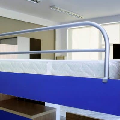 Προστατευτικό Κρεβατιού Παραλληλόγραμμο 130x36 Γκρι