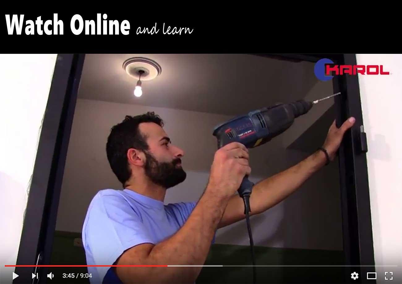 τοποθέτηση πόρτας ασφαλείας video