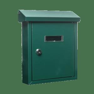 Γραμματοκιβωτιο Μεταλλικο Easy Ασημι - Πρασινο Housebird -65-Easy-silver 65-Easy-Green