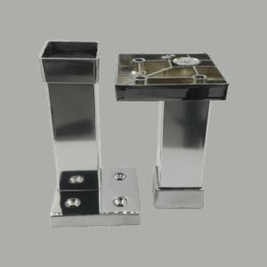 05-650-100-CR(Πόδι ΤCR Τετράγωνο Χρωμίου 100mm)