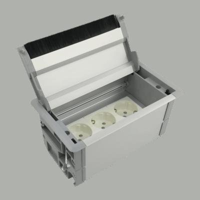 Κρυφό πολύπριζο box (ασημί)
