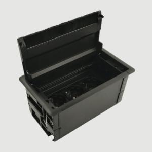 Κρυφό πολύπριζο box (μαύρο)