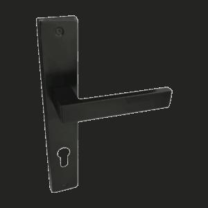 Πόμολο εσωτερικής Πόρτας Black 241 Set (Πλάκα)