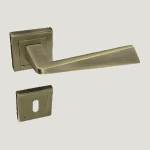 Πόμολο εσωτερικής πόρτας Ζ930 αντικέ set (Ροζέτα)