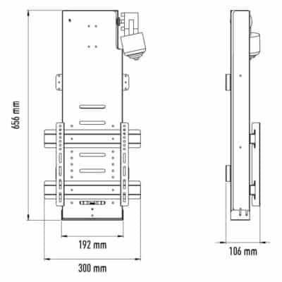 """Μηχανισμός ανύψωσης τηλεόρασης (max. 32"""")"""