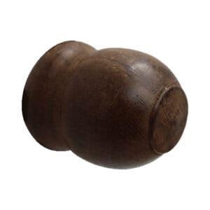 Τάπα ξύλινης κουρτινόβεργάς Φ35 (Καρυδιά)