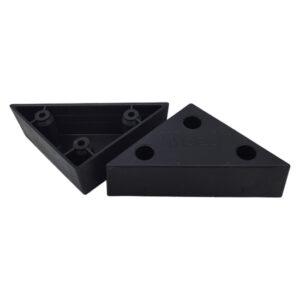 Πόδι επίπλων πλαστικό τρίγωνο (μαύρο)