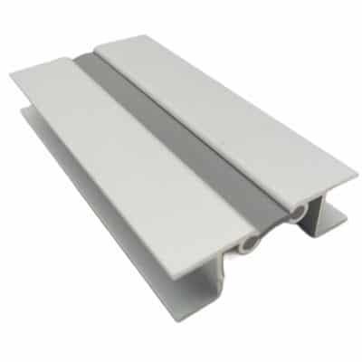 Γωνία αλουμινίου με λάστιχο για μπάζα 10 cm